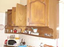 دولاب مطبخ  4 قطع الطول 260 سم مستعمل بحاله ممتازه بزاويه   حرف L