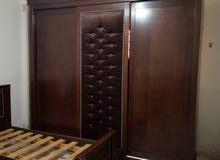 غرفة نوم شبابية سحاب طابقين خشب لاتيه 18 خزانة سحاب طابقين + 3 تخوت مفرد + كومدي