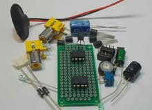 جميع انواع القطع الالكترونية من IC + TR + مكثفات اصلية