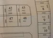 قطعة ارض 500م للبيع منطقة فرحات امتداد شارع مسجد الشريف