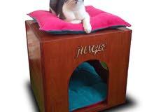 بيوت خشب للقطط بجميع أحجامها وللكلاب من الفصائل الصغيره الحجم