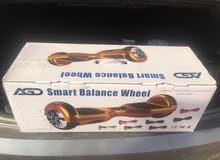 سكوتر كهربائي ذكي ذاتي التوازن لون اسود مع انارة   Two wheels self balance with LED Light Black