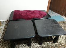 طاولات عدد 3  وحده كبير واتنتين صغار