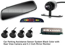 3 in 1: Car Parking Assistance Sensor System + Rear View Camera + 4.3 Inch Mirror Monitor