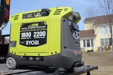 RYOBI 2,200 Starting Watt Green Gasoline Powered Digital Inverter