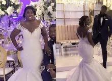 العروس حورية البحر فستان الزفاف