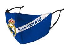 قناع وجه نادي ريال مدريد قابل للغسيل و اعادة الاستخدام  للكبار و الصغار Real Madrid face mask