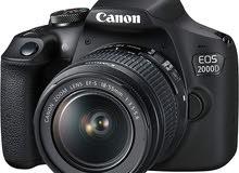 كاميرا كانون EOS 2000D DSLR مع طقم عدسة 18-55 ملم DC III