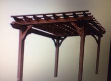 برجولات خشب طبيعي صمم واستلم خلال 5ايام