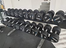 Dumbbells with rack for sale