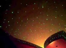 تركيب اشكال ونجوم الفايبر اوبتكس . الالياف الضوئية