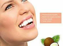 بودرة جوز الهند الفحم لتبييض الاسنان