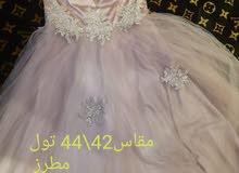 فستان نظيف تول مطرز