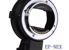 ادابتر (محول)لتركيب عدسات الكانون EF-S EOS الى كاميرات سونيEF-NEX II