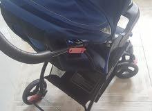 عربه اطفال مع كرسي سياره
