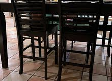 black wooden dining bar table used