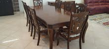 solid wood dining table 8 chairs with sid buffet for sale