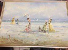 لوحة زيتية اصلية 1950