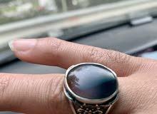للبيع خاتمين فضة حجر عقيق