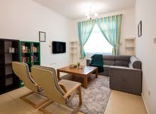دبي ليوان مقابل السيليكون  غرفتين وصالة مفروشة  - ايجار شهري شامل