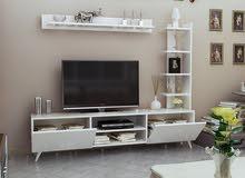 طاولة تلفزيون لونين لون ابيض SIMA