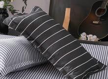 طقم سرير ( 3  4) قطع - بتصميم مخطط