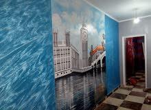 جداريه بارز مع سواحيلي من اعمالي