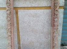 برواز مدخل خشب طبيعي (زان) حفر يدوي صنع دمياط