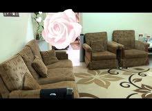 Seven seater sofa with carpet