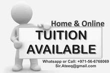 Home or Online Tuition in UAE