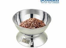 ميزان مطبخ الكتروني سوناشي لوزن أدق الكتل من 1 غ حتى 5 كغ من الاينوكس المقاوم ل