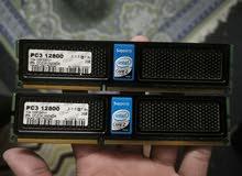 PC3 12800 Ddr3 , 4gb (2Gb X2) RAM For Sale