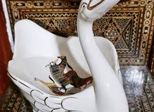 بطة بورسلين اوربية عمل يدوي جميل جدا برسومات جميلة وحجم كبير