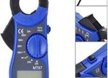 جهاز فاحص للكهرباء والأمبير Universal MT87 LCD Digital Clamp Meter Multimeter Voltmer
