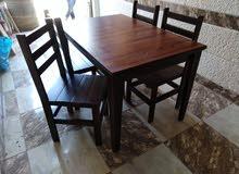 كراسي وطاولة للمقاهي والكفيهات والمطاعم  وحدائق وكافيه تفصيل وجاهز