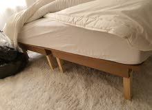عدد 2 سرير خشبي مفرد