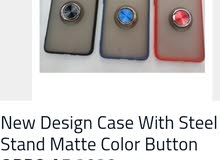 New Design Case With Steel Stand Matte Color Button OPPO A5 & A9 2020
