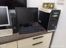 كمبيوتر كامل مع جميع اكسسوار نضيف جدا و سريع hp