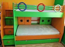 Bunk bed & 5 door cupboard