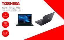 لابتوب Toshiba protege R700 مستعمل فقط 750 شيكل