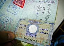 فيزا نظامية ( سوري , يمني , صومالي , هندي . ليبي ) لمصر