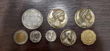 مجموعة عملات رومانيه قديمه وعربيه