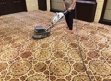 تنظيف وتلميع الارضيات ووجهات الفلل والقصور