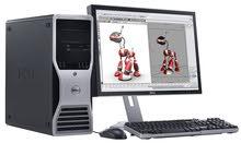 كومبيوتر Dell Work Station T7400 دبل معالج زيون X5450 3.0 Ghz