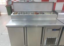 pizza make line commercial doubl doorstainless steel body fridge. good condition