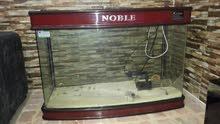 حوض سمك كبير ماركة نوبل مع كامل أغراضه من فلاتر و إضاءة و غيرها