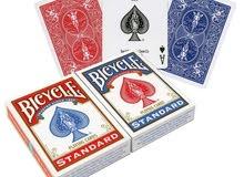 طقم أوراق اللعب بايسكل أحمر + أزرق bicycle cards