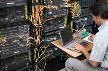 تنفيذ الشبكات و صيانة شبكات الكمبيوتر والإنترنت و انظمة السنترال