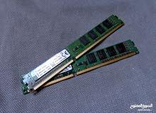 حبتين رام 4 جيجا لكل حبة DDR3 بحالة الوكالة KINGSTON