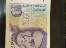 عملة ورقية المانية 10 مارك